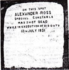 Alexander Ross Memorial Stone
