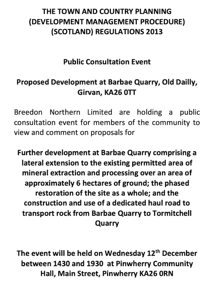 Proposed Development at Barbae Quarry