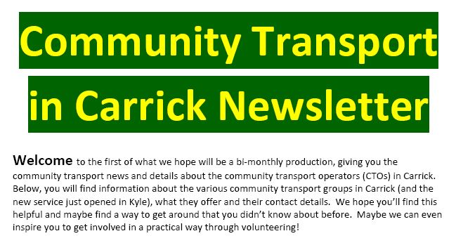 Community Transport Newsletter