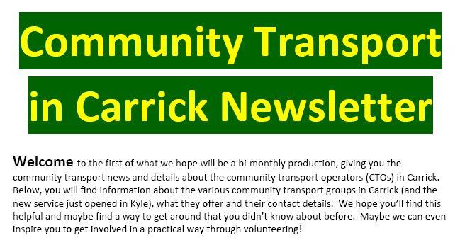 Community Transport Newsletter
