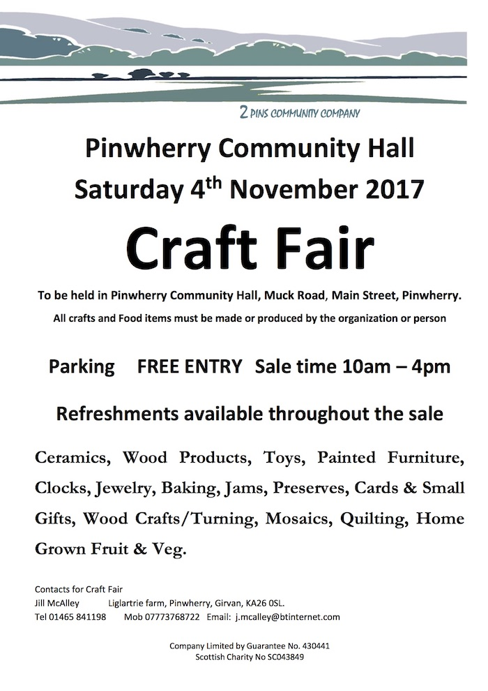 Craft Fair – 4th Nov 2017