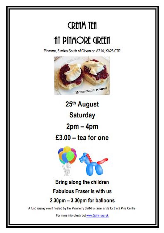 Cream Tea At Pinmore Green
