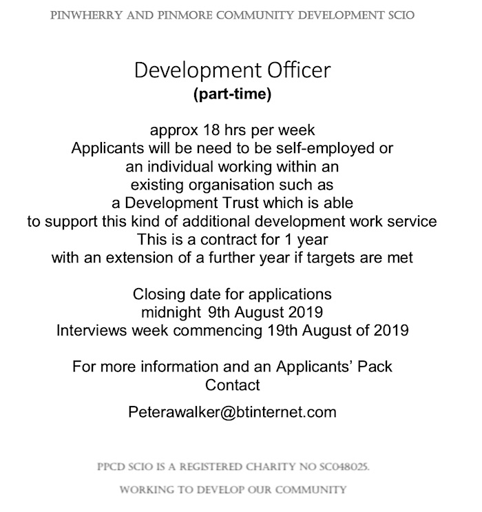 Job Advert – Development Worker