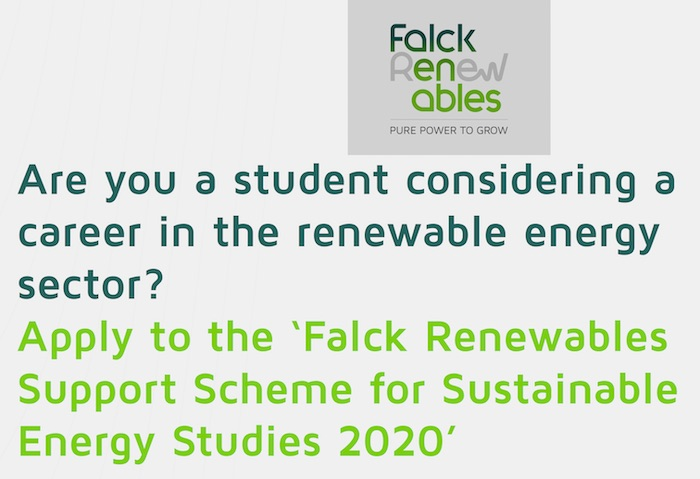 Apply to the Falck Renewables Support Scheme