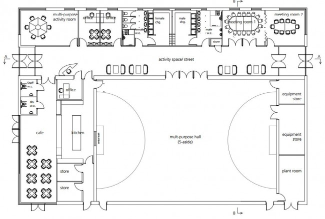 2 Pins centre Floorplan