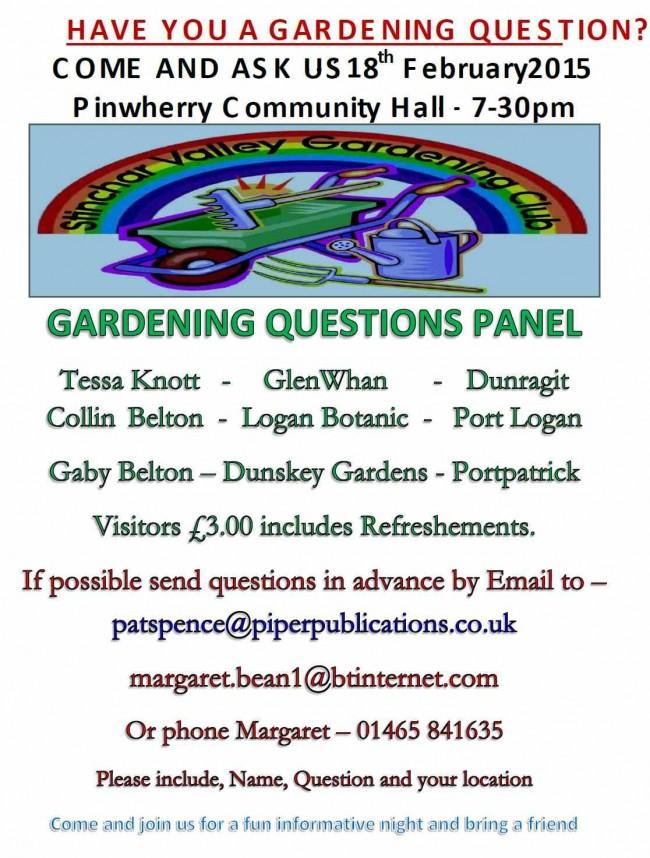 Garden Question Panel 2015