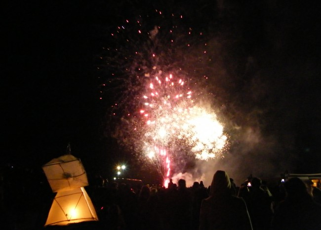 Girvan lantern parade and fireworks