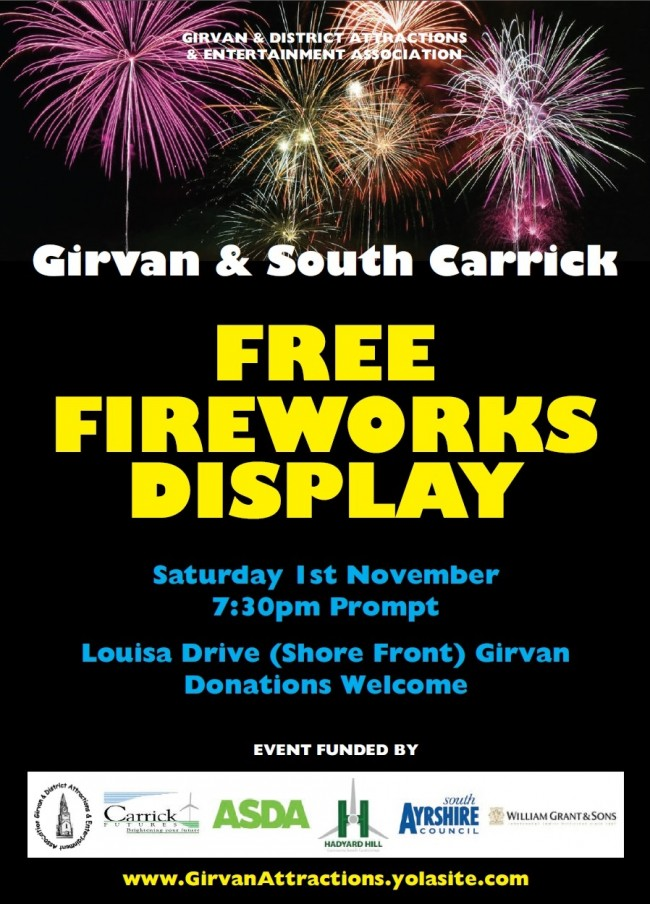 Girvanfireworks2014