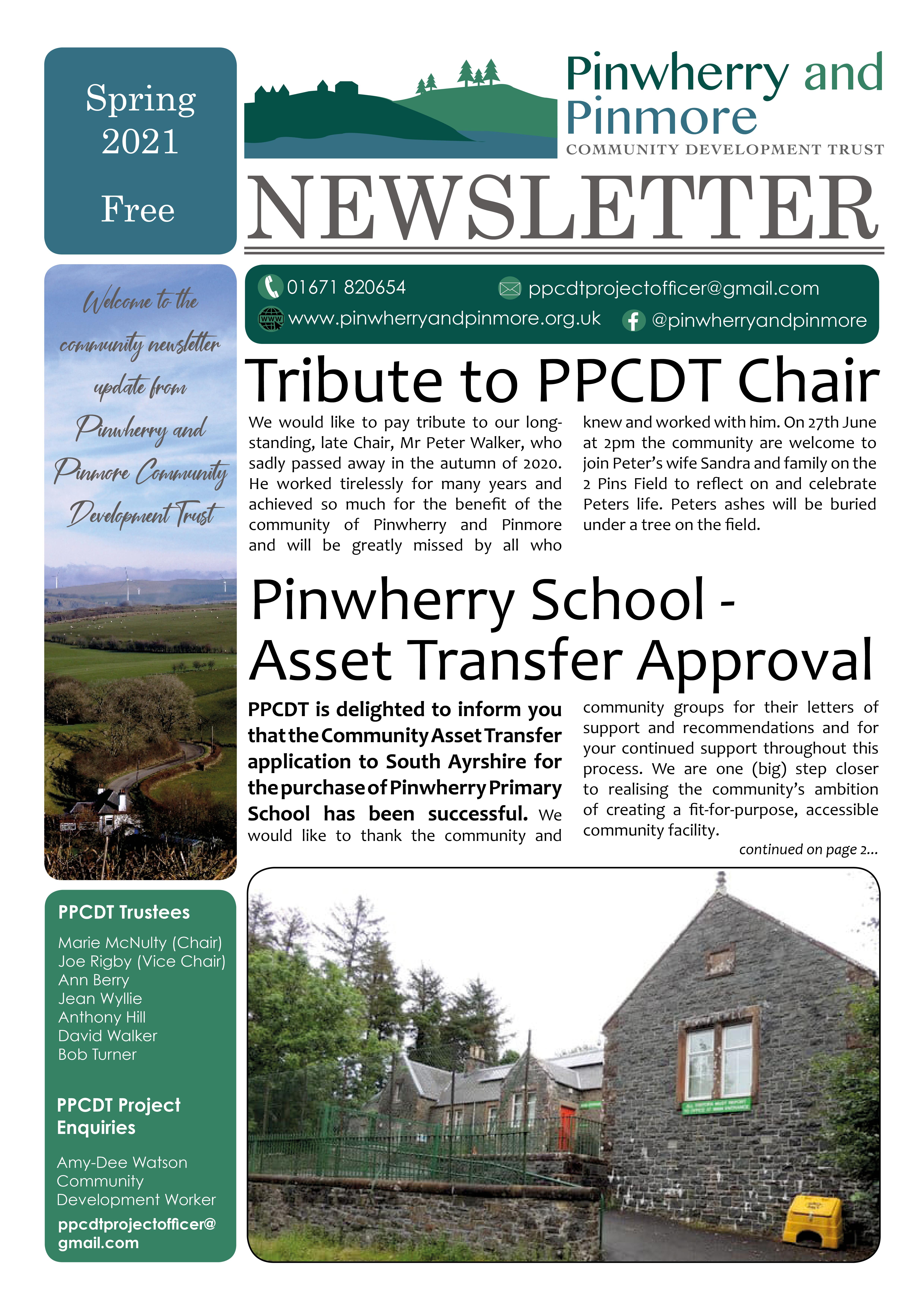 PPCDT Newsletter Spring 2021