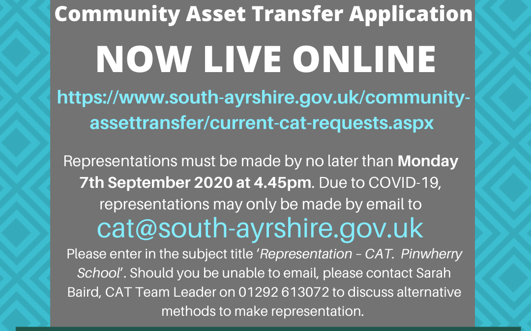 Pinwherry School Asset Transfer Application