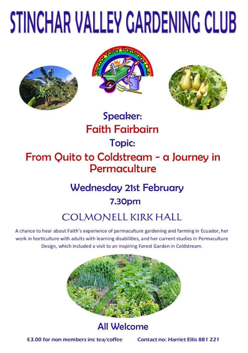 Stinchar Valley Gardening Club – February Talk