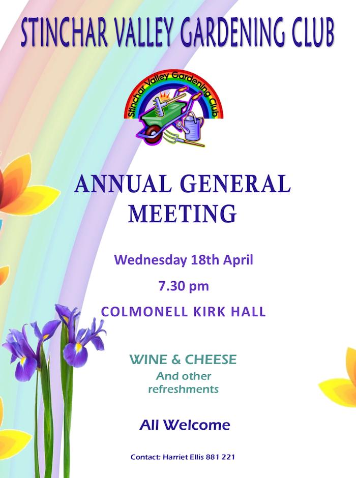 Stinchar Valley Gardening Club – AGM