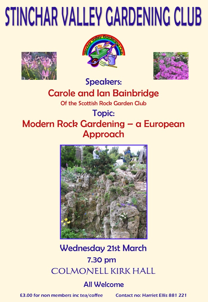 Stinchar Valley Gardening Club – March Talk