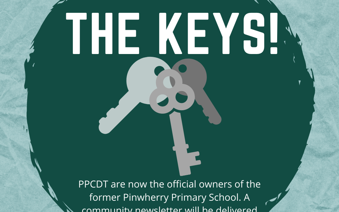 We've Got The Keys! PPCDT Official Owners of Pinwherry School