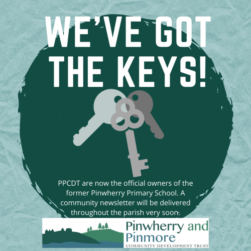 We've got the keys to Pinwherry School!