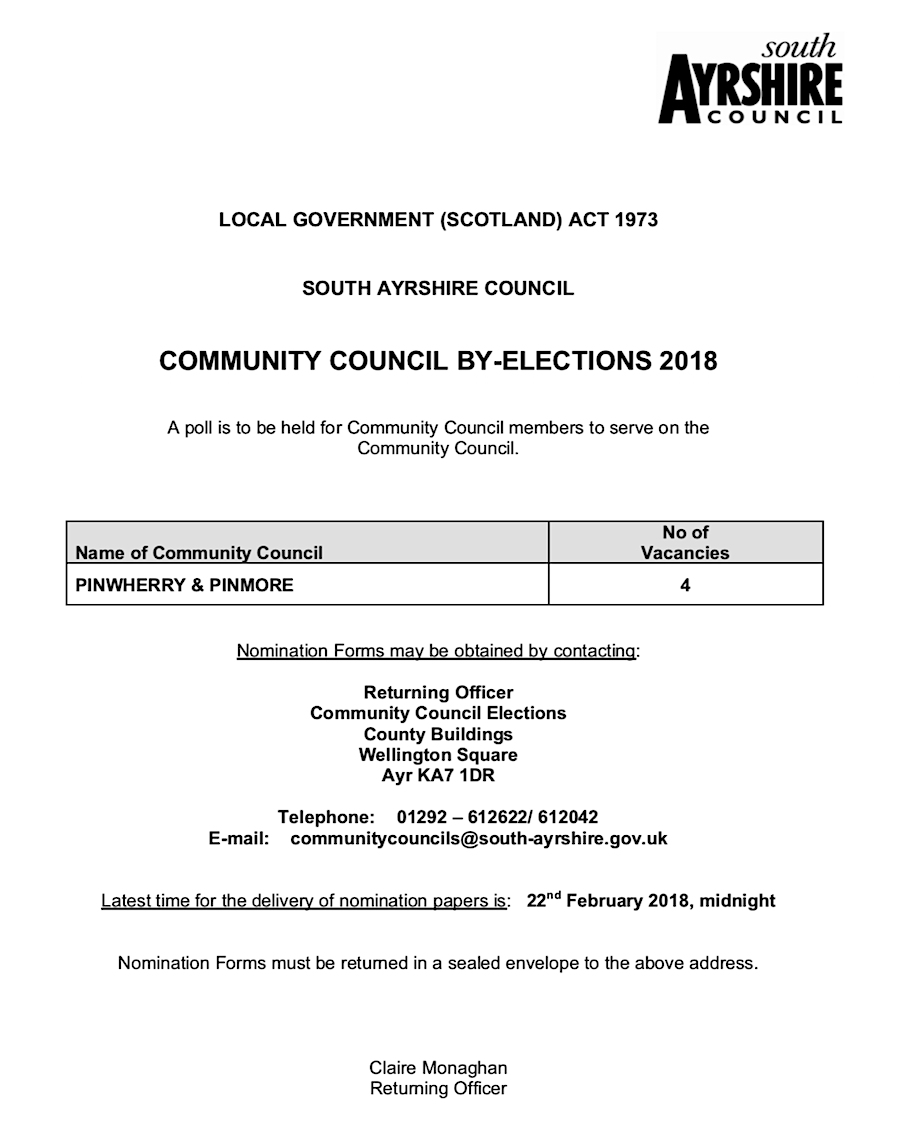 Community Council By-Elections
